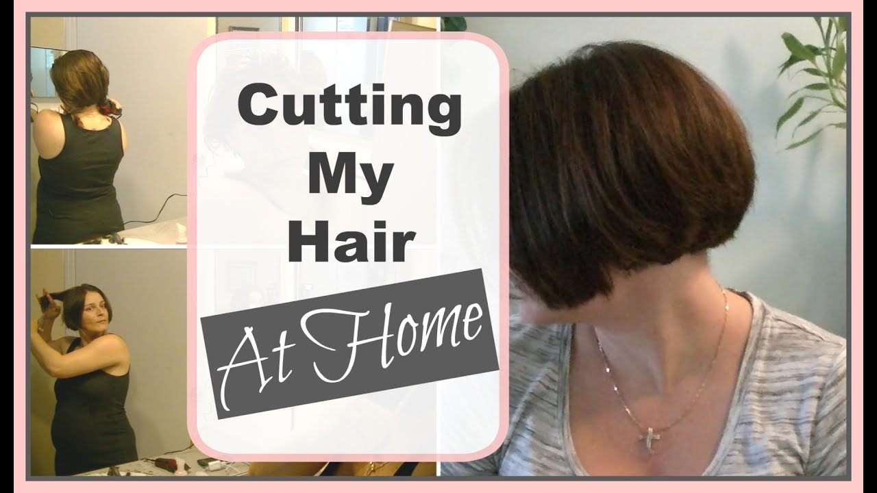 How I Cut My A Line Bob At Home  DIY Bob Haircut