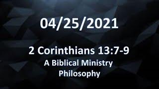 2 Corinthians 13:7-9
