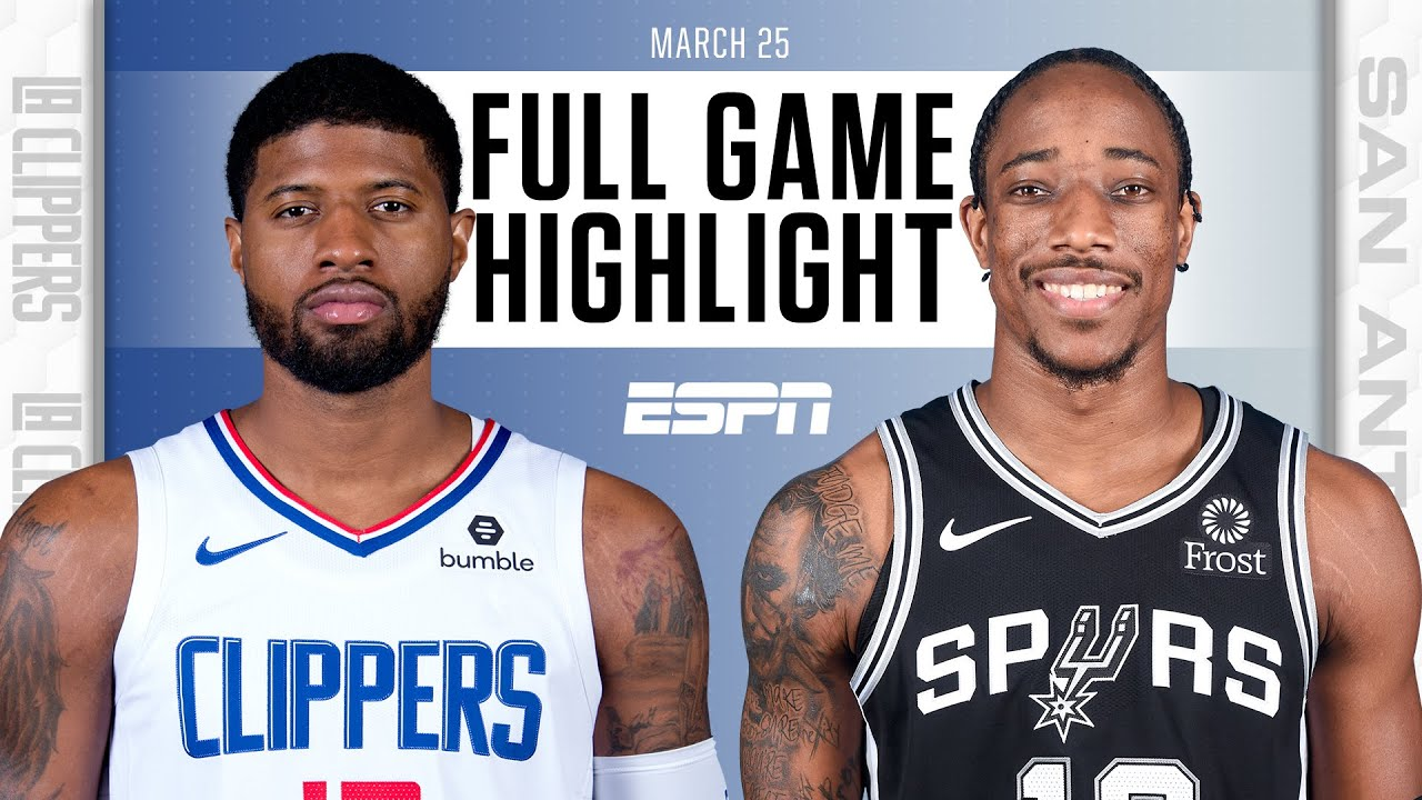Clippers dominate Spurs in 2nd half without Kawhi Leonard [FULL GAME HIGHLIGHTS] | NBA on ESPN