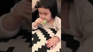 Foodie XiaoMan 超萌小吃貨~小蛮殿下最近新喜愛🐰💕🥕🍄 #snack #eatingmachine #小蛮 #xiaoman