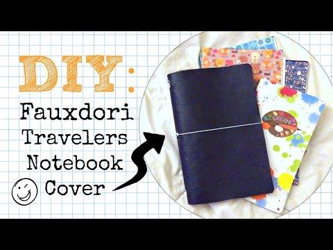 DIY Travelers Notebook Fauxdori Cover - No Sew \\ Planner Peace Tutorial + Craft Hack