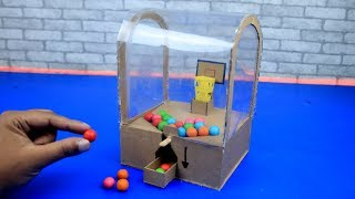 How to Make Vending Machine with Gumball  --  DIY Toy Slam Dunk Double Bubble Mini Gumball Machine