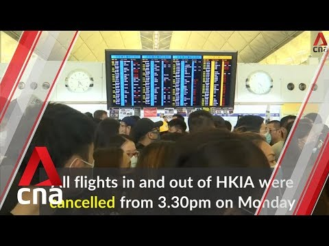 Hong Kong airport authorities deal with backlog after protest shutdown