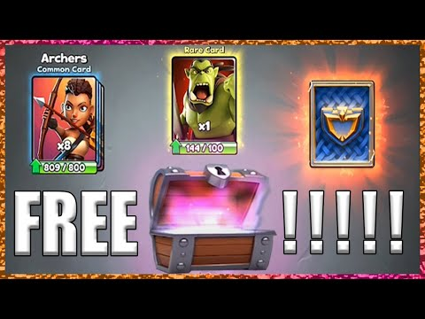 Castle Crush LEGENDARY CARD FROM FREE CHEST?!!!
