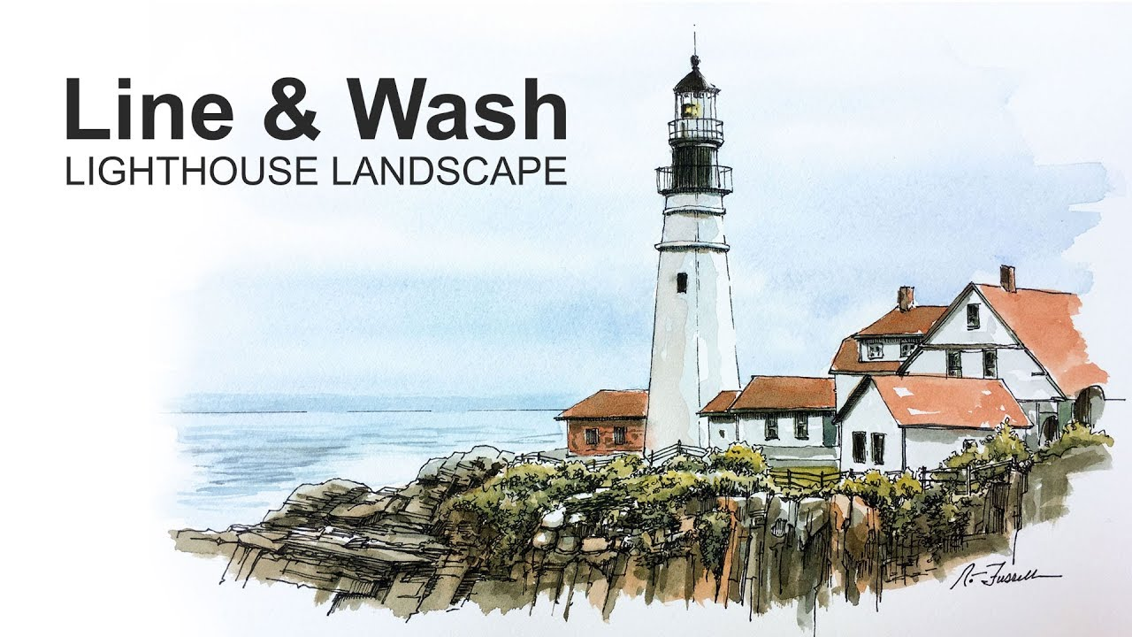 Art Class Drawing Of A Lighthouse