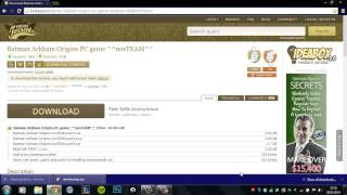 How To Download Batman Arkham Origins For Free (not working anymore)