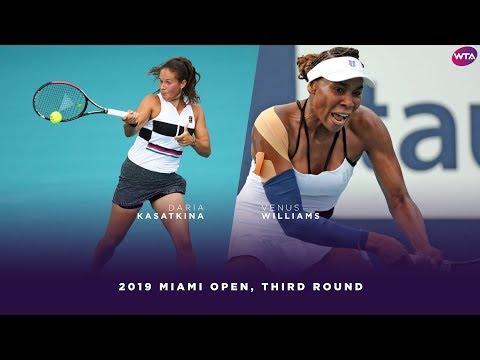 Daria Kasatkina vs. Venus Williams | 2019 Miami Open Third Round | WTA Highlights