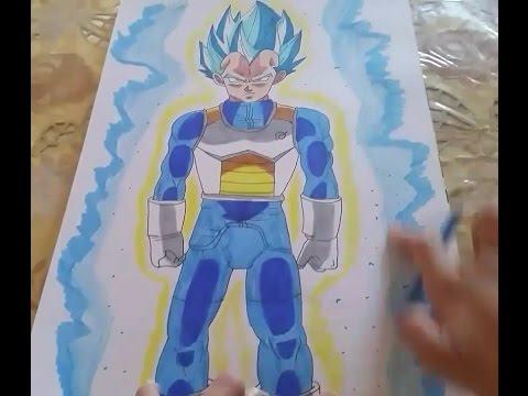 Coloring vegeta super saiyan blue drawing by my own coloriage de vegeta super saiyan blue par - Dessin de vegeta ...