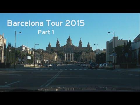 [E] Barcelona Tour 2015, Part 1: Montjuïc - Passeig de Colom - Diagonal Mar