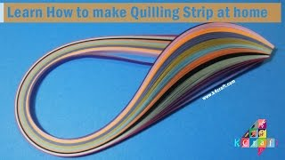 Learn How to make Quilling Strip at home | K4Craft.com