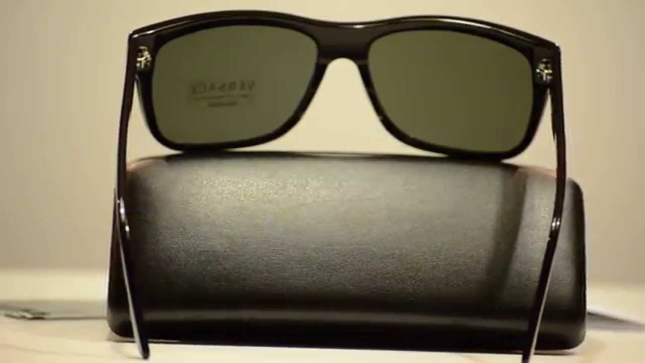 f27cd15e216 New Versace Authentic Polarized Sunglasses VE4179 GB1 58 VE 4179 - YouTube