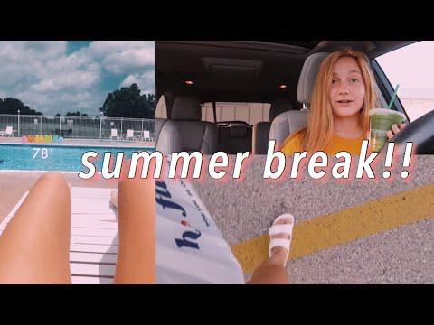 first day of summer break vlog ❁