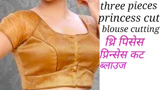 three pieces princess cut blouse cutting and stitching (36 size) part-2