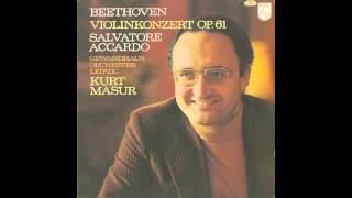 Silent Tone Record/ベートーヴェン:ヴァイオリン協奏曲/サルヴァトーレ・アッカルド、クルト・マズア/PHILIPS:9500 407/クラシックLP専門店サイレント・トーン・レコード
