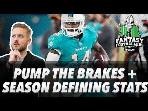 Fantasy Football 2017 - Pump the Brakes, Season Defining Stats, #FootClan Questions - Ep. #480