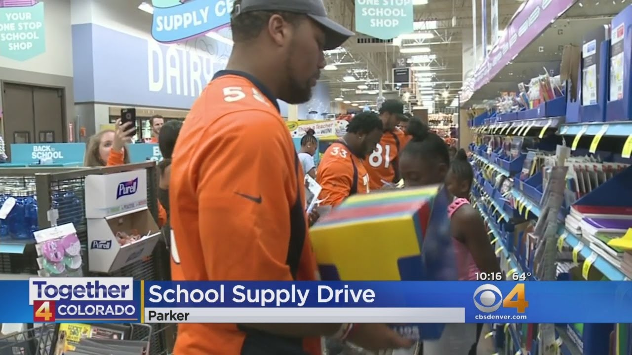 Denver Broncos Players Help Kids Get Ready For Clas