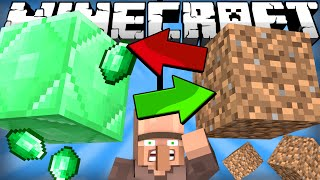 If Emeralds and Dirt Switched Places - Minecraft
