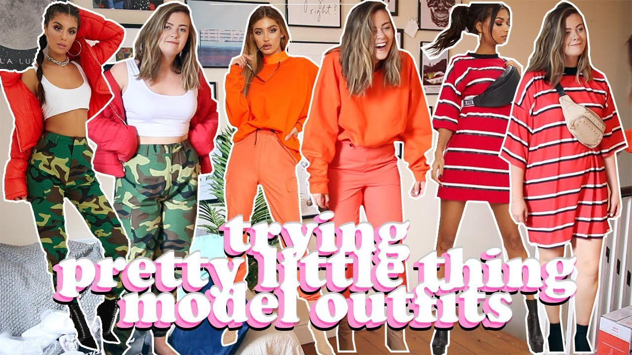 40f36587739 AVERAGE GIRL TRIES PRETTY LITTLE THING MODEL OUTFITS - SIZE 14 STYLE SWAP