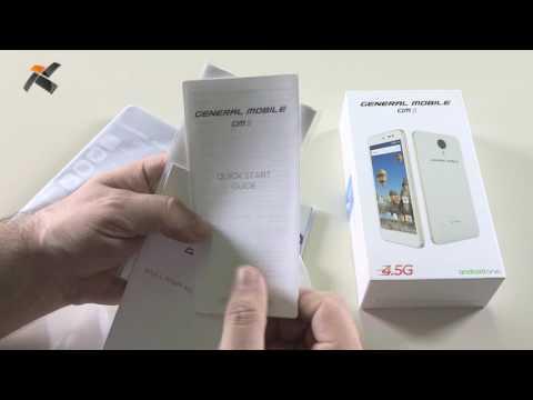General Mobile GM5 kutu açılış (Unboxing) videosu