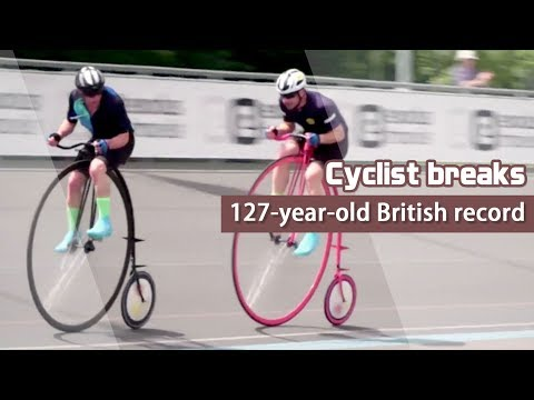Cyclist breaks 127-year-old British Penny Farthing record, misses world mark