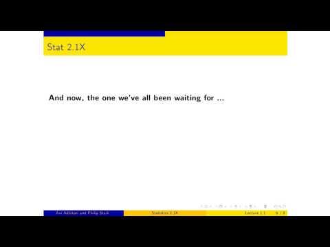 UCBerkeleyX: Introduction to Statistics: Descriptive Statistics - Stat2.1x: Part  1