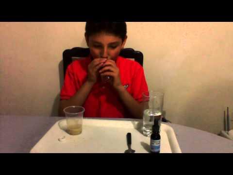 Experimento sobre metabolismo(acción de las enzimas de la saliva