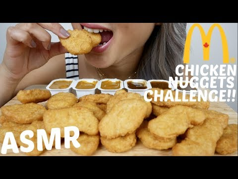 ASMR McDonald's Chicken Nuggets Challenge (AuzSOME Austin) *No Talking Eating Sounds| N.E Let's Eat