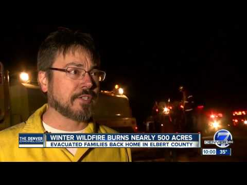 Winter brush fire burns nearly 500 acres