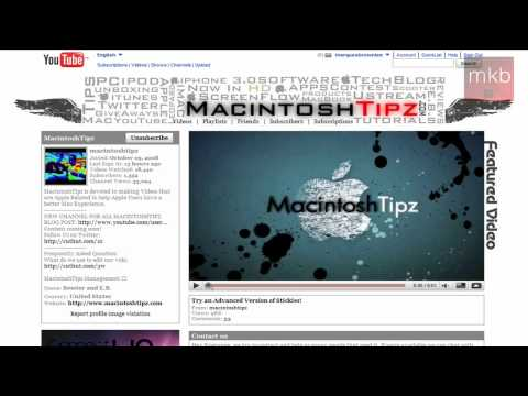 Tech Channel of the Week #8: MacintoshTipz