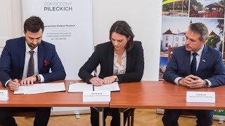 Podpisanie umowy z wykonawcą Muzeum - Dom Rodziny Pileckich w Ostrowi Mazowieckiej