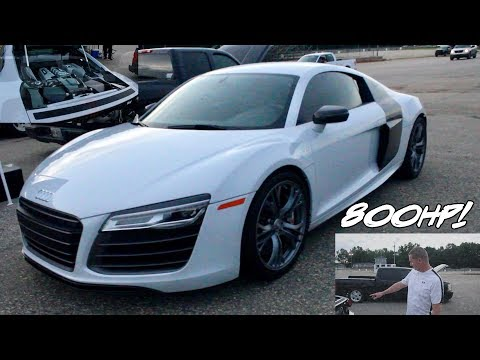 800 HP TWIN TURBO AUDI R8 DOES INSANE DRIVE BY