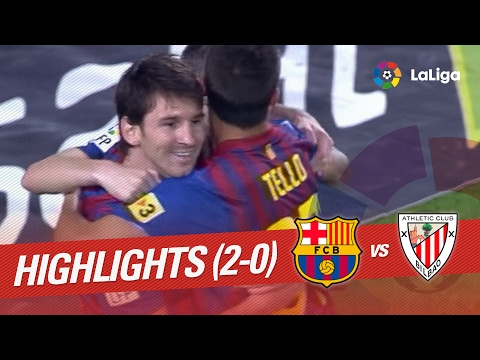 Resumen de FC Barcelona vs Athletic Club (2-0) 2011/2012