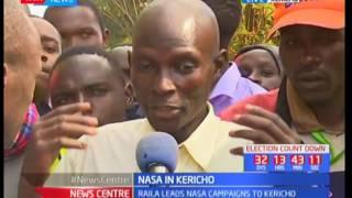 NASA in Kericho County : Raila Odinga leads the NASA battalion to  Kericho