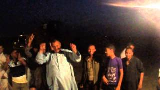 New Suez Canal workers shouting after Iftar Long live Egypt
