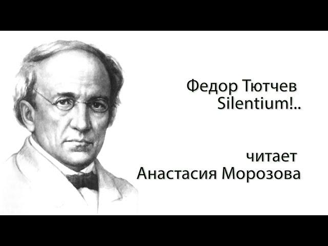 Изображение предпросмотра прочтения – АнастасияМорозова читает произведение «Silentium» Ф.И.Тютчева