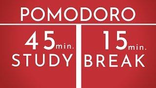 Pomodoro Technique 1 x 45 min - Study Timer 1h