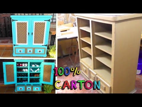 DIY CRAFTS awesome FURNITURE with CARDBOARD recycled