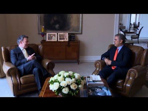 afpes: Santos y Duque se reúnen tras presidenciales en Colombia