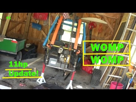 11hp Carter Go-Kart update   Tearin' Out the Axle! - YouTube