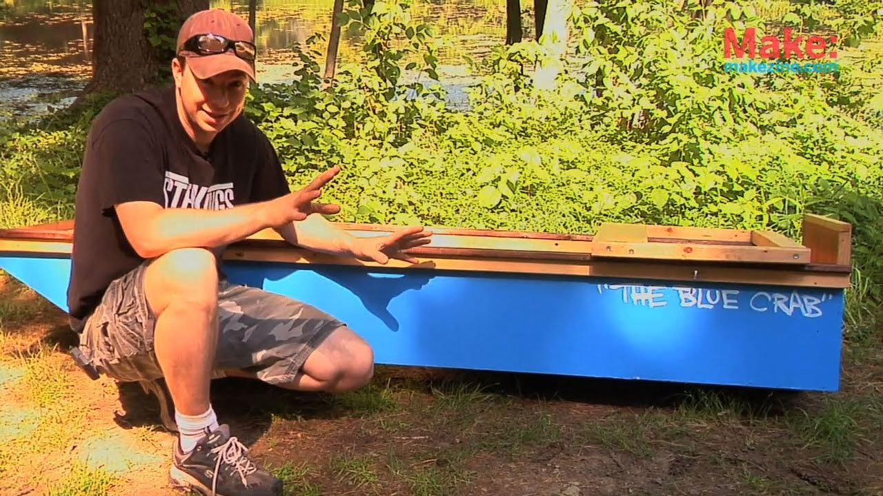 one-sheet plywood boat - tiny yellow house - youtube