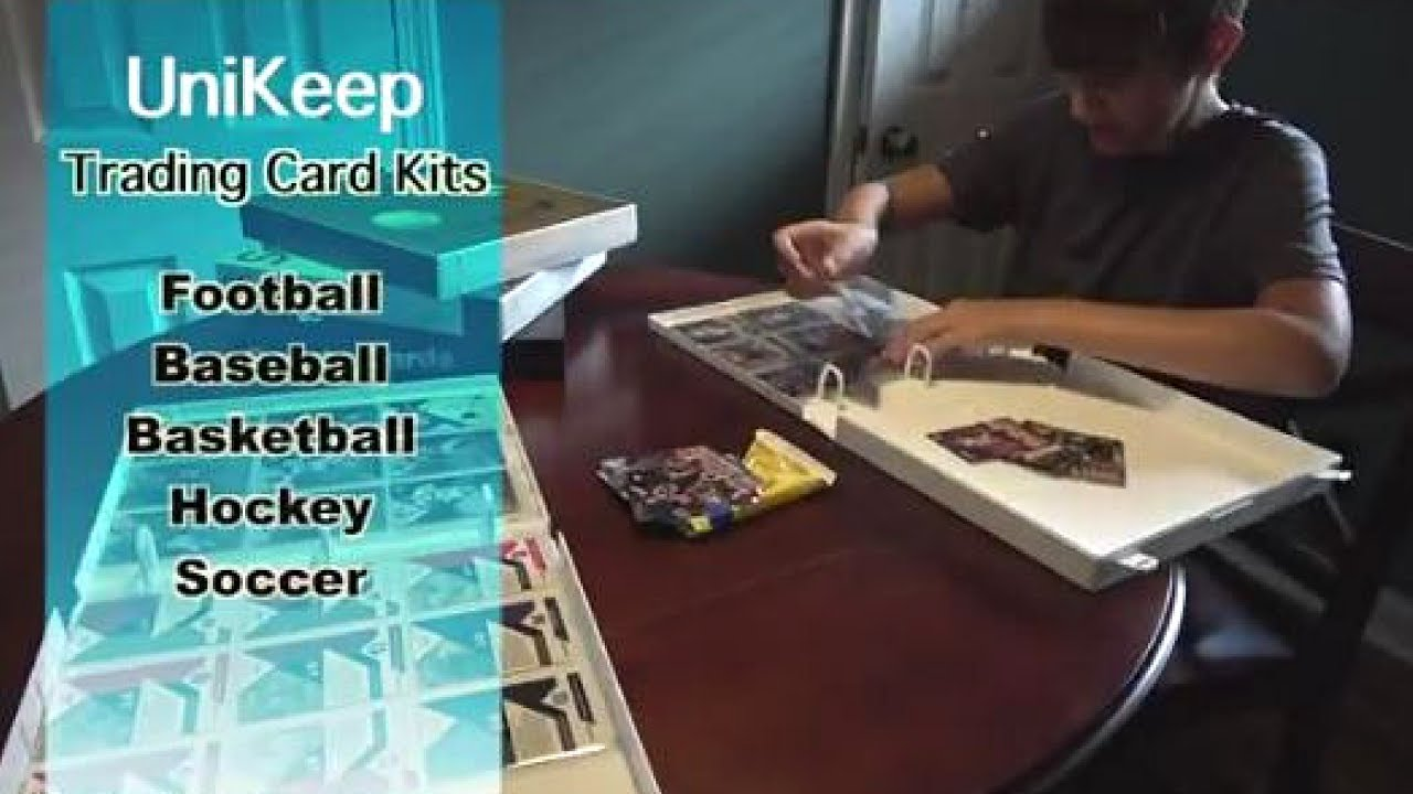 Unikeep Trading Card Organizer Kits For Sports Trading Cards