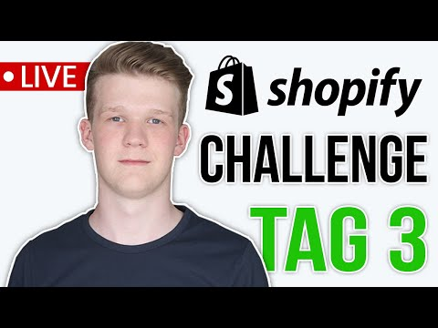 (Tag 3) SHOPIFY CHALLENGE: Rechtliches & Verkaufsseite | Shopify Dropshipping CaseStudy thumbnail