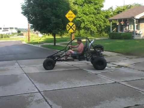 First Test Drive Of The 500cc Home Built Dune Buggy