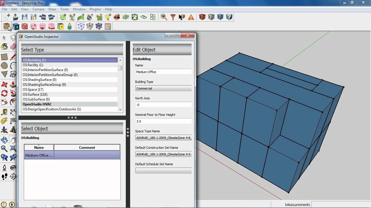 OpenStudio 0 9 New Features New SketchUp Plugin Features