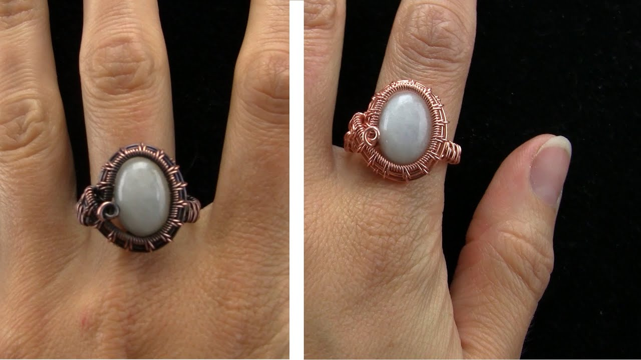 Wire Wrapped Cabochon Ring Tutorial - YouTube