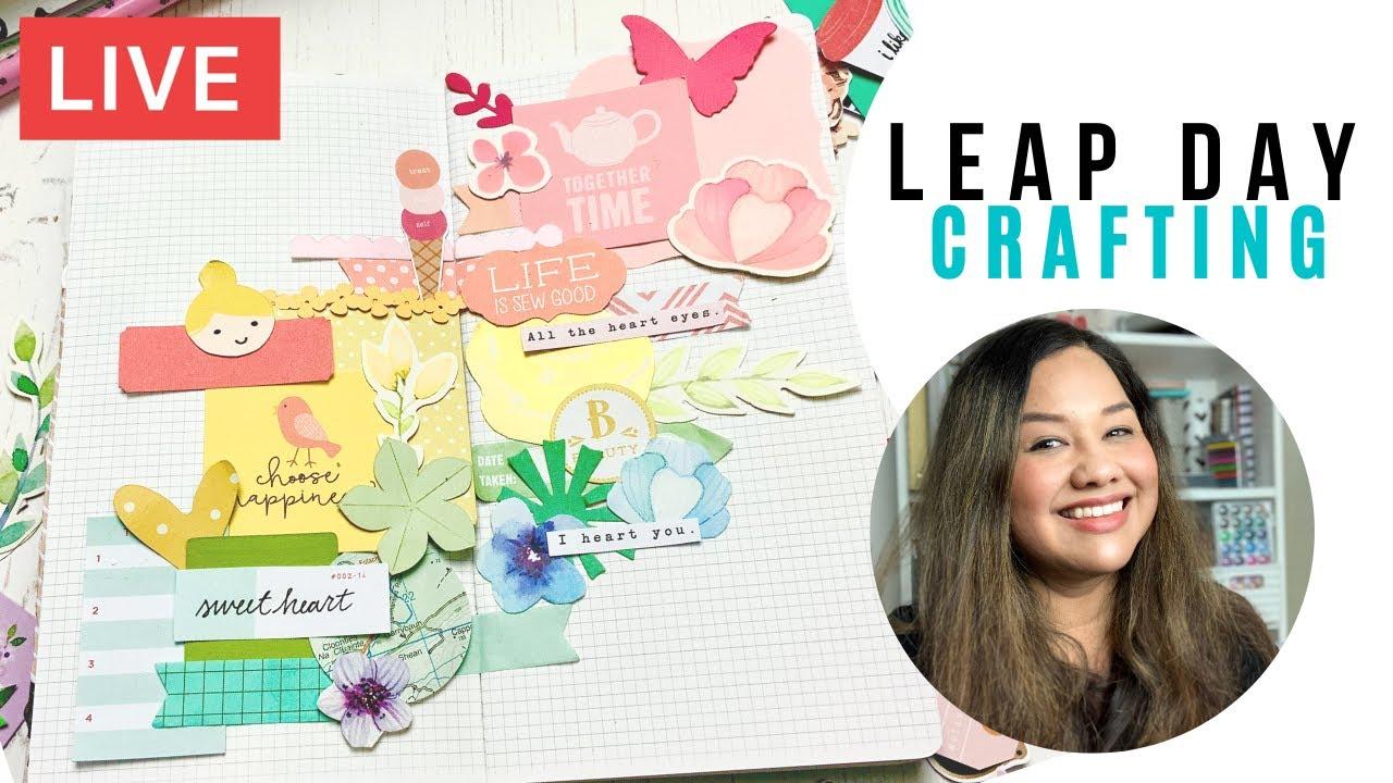 Janette Lane Crafts Live Ep 8: FREE SHIPPING @ CraftStash + Leap Day Crafting!