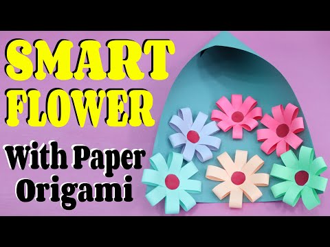 How To Make Flower Bucket With Paper (Origami) || Easy & Simple Tutorial || Craftyhood VD # 032