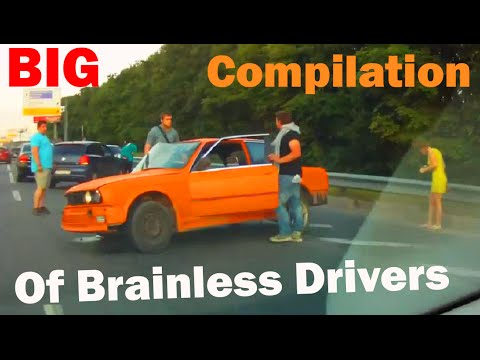 Brainless driving in traffic BIG Compilation - Driving in Russian style