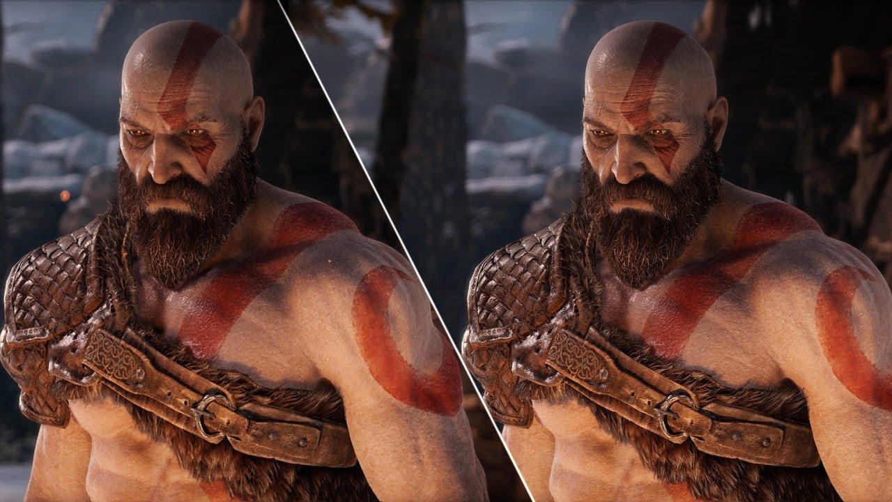 God of War Graphics Comparison: PS4 vs  PS4 Pro