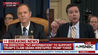 Rep. Schiff Presses FBI Director to Debunk President's Wiretapping Claims